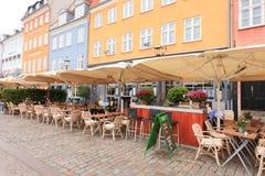 Caferestaurang Nyhavn Royaltyfria Bilder