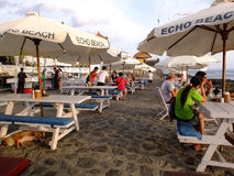 Cafes beside the beach Stock Photography