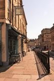 Cafes in George St, Bath, England, UK stock photography