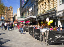 Cafes, Leicester Square, London, England Stock Images