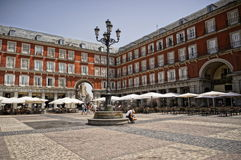 Cafes at Plaza Mayor Stock Images