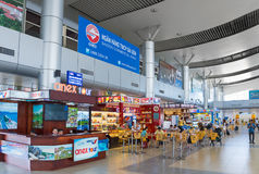 Cafes and restaurants at Cam Ranh International Airport interior Royalty Free Stock Photo
