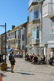 Cafes and restaurants in Saint ives, Cornwall, England Stock Photo