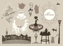 Cafes and restaurants Royalty Free Stock Images