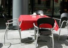 cafesamhälle Arkivbild