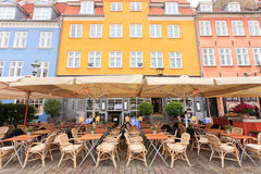 Cafestång Nyhavn Royaltyfri Fotografi