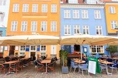Cafestång Nyhavn Royaltyfria Bilder