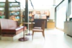 Cafetaria abstrata do borrão foto de stock