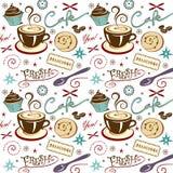 Cafetaria do café do fundo do teste padrão do vetor ilustração royalty free