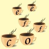 Cafetaria do folheto, copo de café Fotografia de Stock Royalty Free