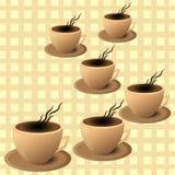 Cafetaria do folheto, copo de café Imagens de Stock