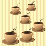 Cafetaria do folheto, copo de café no vetor EPS ilustração do vetor