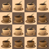 Cafetaria do folheto, copo de café no vetor EPS ilustração royalty free