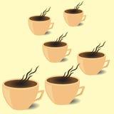 Cafetaria do folheto, copo de café no vetor EPS ilustração stock