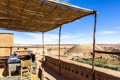 Cafetaria em Ksar de AIT-Ben-Haddou, Moroccco Imagem de Stock Royalty Free