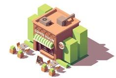 Cafetaria isométrica do vetor ilustração stock