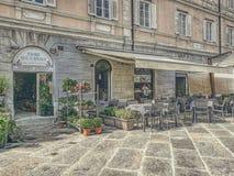 Cafetaria na rua imagem de stock