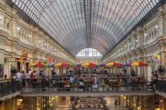 Cafetaria no armazém da GOMA em Moscou, Rússia fotografia de stock royalty free