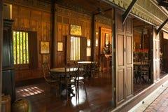 Cafetaria tailandesa interna Fotografia de Stock Royalty Free