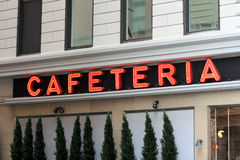 Cafetariateken Royalty-vrije Stock Fotografie