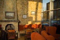 Cafetería acogedora Foto de archivo libre de regalías