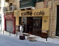 Cafetería agradable de la fachada Imágenes de archivo libres de regalías