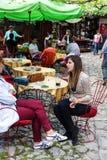 Cafetería al aire libre Fotografía de archivo libre de regalías
