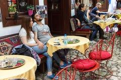 Cafetería al aire libre Fotos de archivo libres de regalías