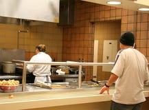 Cafetería de escuela Fotos de archivo libres de regalías