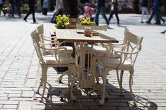 Cafetería de Estambul el día soleado Foto de archivo