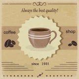 Cafetería de la etiqueta del vintage Fotografía de archivo