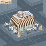 Cafetería de la fachada libre illustration