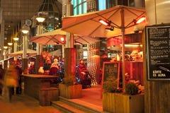 Cafetería de la Navidad en Budapest Fotografía de archivo