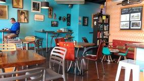 Cafetería en Wellington, Nueva Zelanda Foto de archivo
