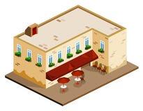Cafetería isométrica stock de ilustración