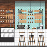 Cafetería moderna Imagen de archivo libre de regalías