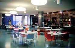 Cafetería de la universidad Imagenes de archivo