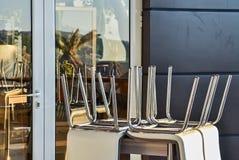 Cafetería y muebles Imagen de archivo