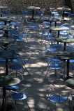 Cafeteria. Empty garden cafeteria Royalty Free Stock Image