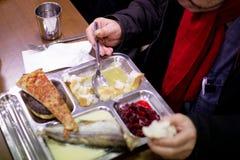 Cafeteria für arme Leute Stockfotos