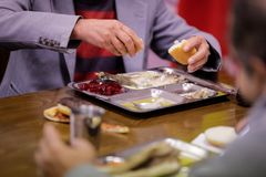 Cafeteria für arme Leute Lizenzfreies Stockfoto