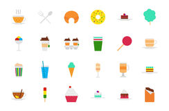 Cafeteria food vector icons set. Set of 24 Cafeteria food vector icons Stock Images