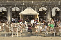 Cafeteria i Venedig Royaltyfria Bilder