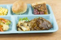 Cafeteria meatloaf dinner detail Royalty Free Stock Image