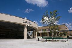 Cafeteria at Middle School Stock Image