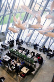 The cafeteria of the modern art museum of the Louis Vuitton Foun Stock Photo
