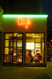 Cafeteria by night. In Bratislava, Slovakia Stock Photography