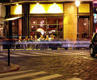 Cafeteria by night. In Paris, France royalty free stock photos
