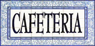 Cafeteria sign on tiles, Seville Stock Photos
