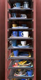 Cafeteria tray shelf Royalty Free Stock Image